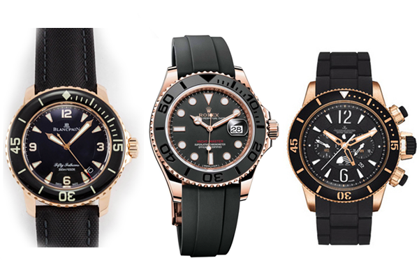 Rolex Yacht Master sandwich between the watches Rolex copied