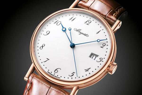 A contemporary example of the Breguet Classique in Rose Gold