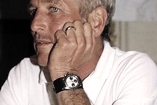 Paul Newman wearing a 'Paul Newman Daytona', which is odd even to write!