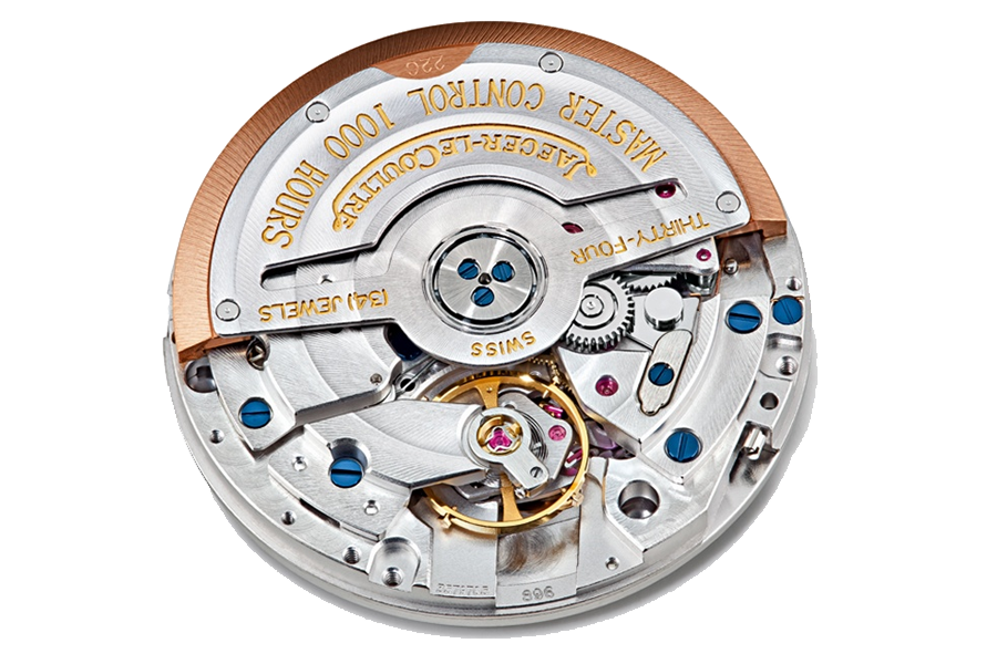 All members of the JLC Master Control series, such as this caliber 896 are subjected (as a completely finished watch) to 1000 hours of rigorous reliability testing in 6 positions, over a temperature range of 4->40 Celsius. Testing includes magnetism (5000 amperes/meter), shock, vibration, and pressure tests. Each watch is then signed and dated by the responsible watchmaker.