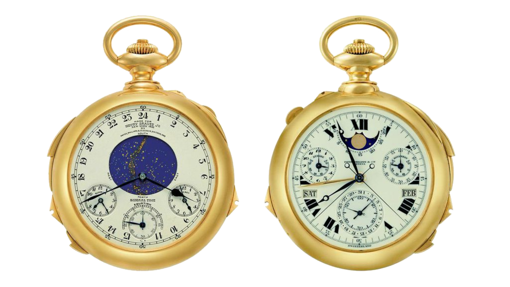 "The Patek Philippe ""Henry Graves"" Supercomplication Pocket watch completed in 1933 with a total of 24 different functions. It took 3 years to design and another 5 to manufacture. To say it is a masterpiece is the understatement of the last 300 years!"