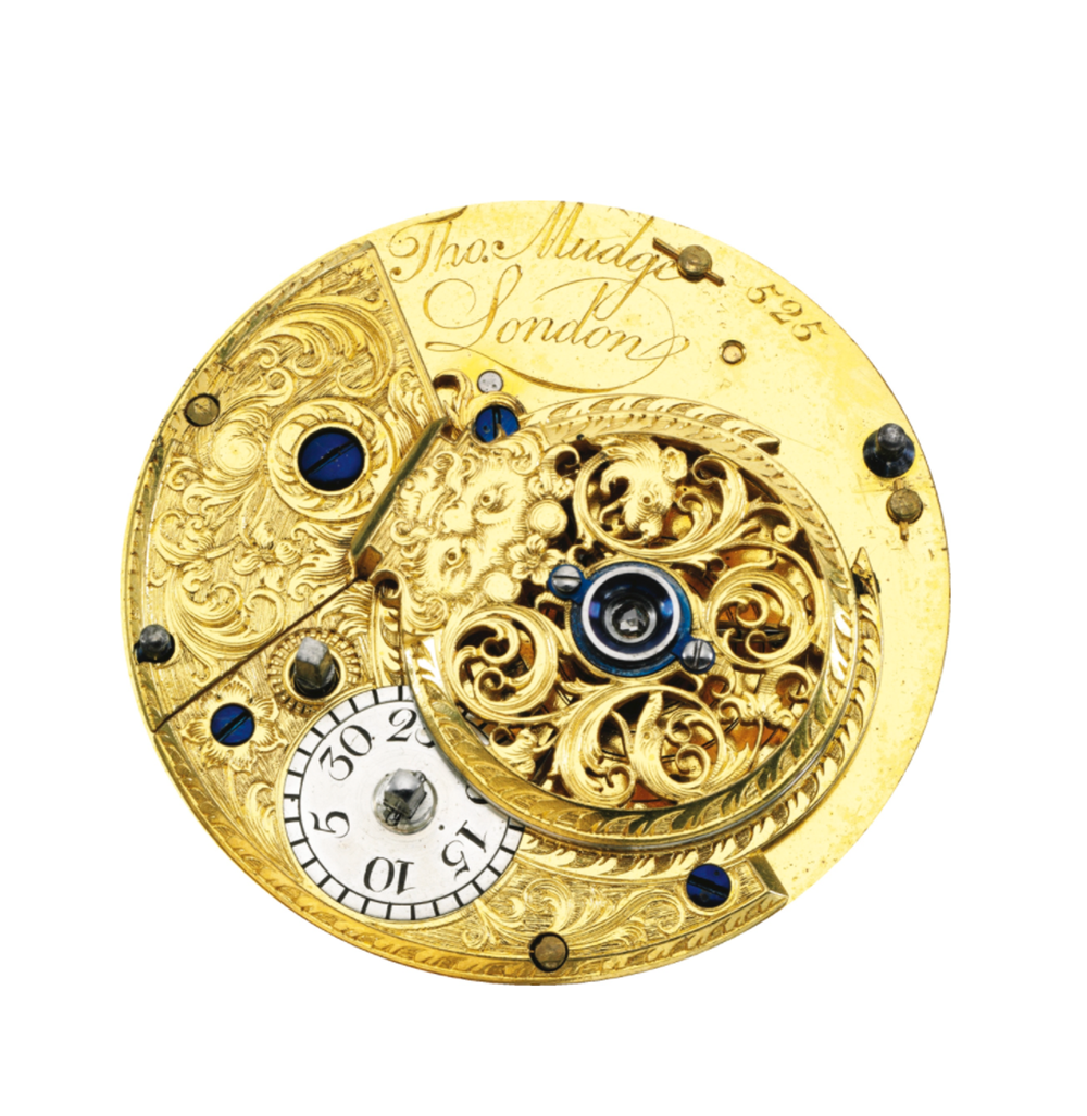 The movement inside the possible 'first ever Perpetual Calendar' watch by Thomas Mudge