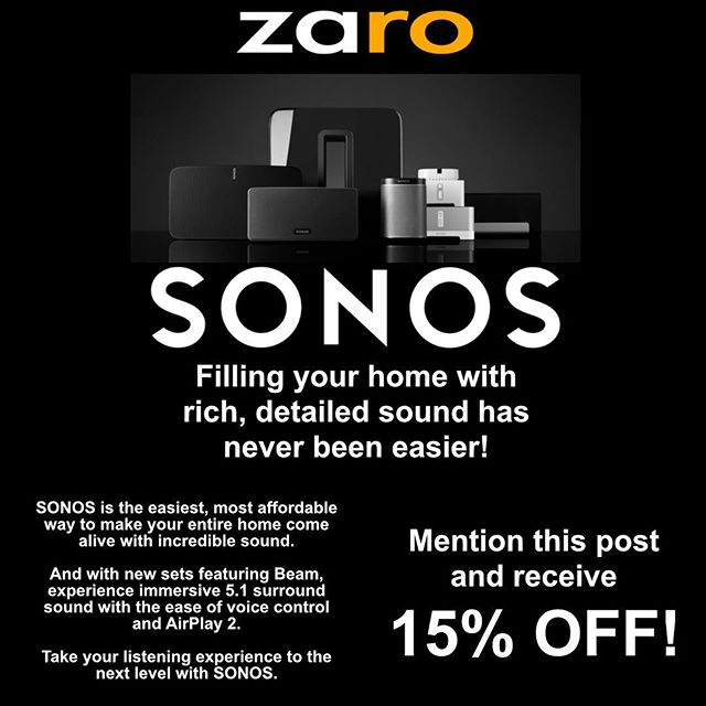 #SONOS #audio #video #crestron #homeautomation #homeaudio #smarthome #smarthomeautomation ——————————— Text/WhatsApp: 954.670.4892 Email: info@zaromedia.com