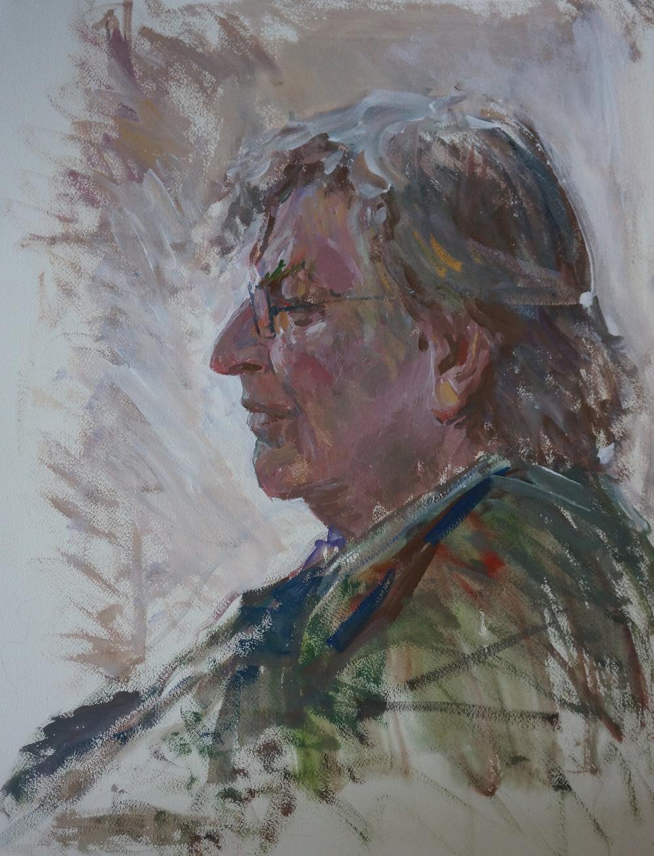 Portrait of Michael O'Sullivan, Iliya Iliya Mirochnik, 18x24.JPG