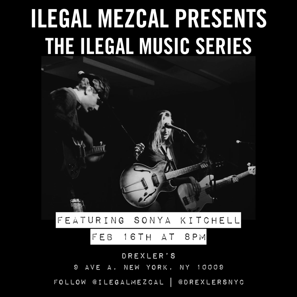 Special Ilegal Mezcal drinks all night!   $10 Oaxacan Old Fashioned   $10 Mezcal Especial   $10 Musicians Breakfast (shot of Ilegal and a beer)
