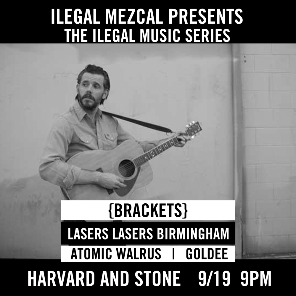 Featuring {Brackets}, Lasers Lasers Birmingham, Atomic Walrus and Goldee