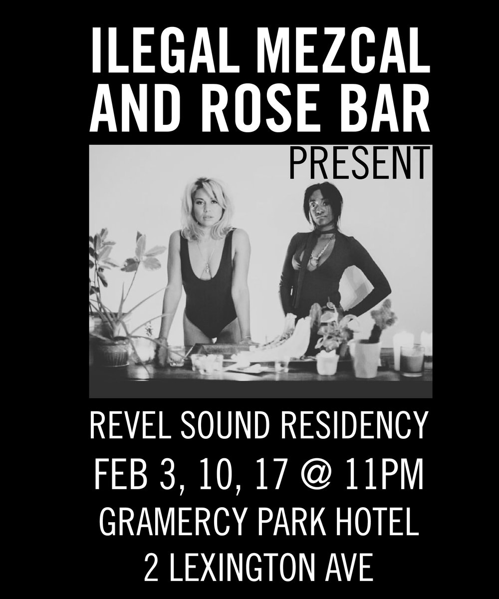 The Liza Colby Sound and Revel In Dimes have joined forces with Ilegal Mezcal for a three week winter residency in February Set in the swanky, iconic Rose Bar of the Gramercy Park Hotel, watch these two powerhouse NYC bands conjure magic with one intertwined set of raw, sexy, psychedelic, Blues and Rock & Roll.  The front women describe this creation as 'A Rock and Soul revue meets 60s roadhouse, a sonic incantation.' Surround yourself in velvet and drink in an experience that will warm you beâer than a hot toddy.