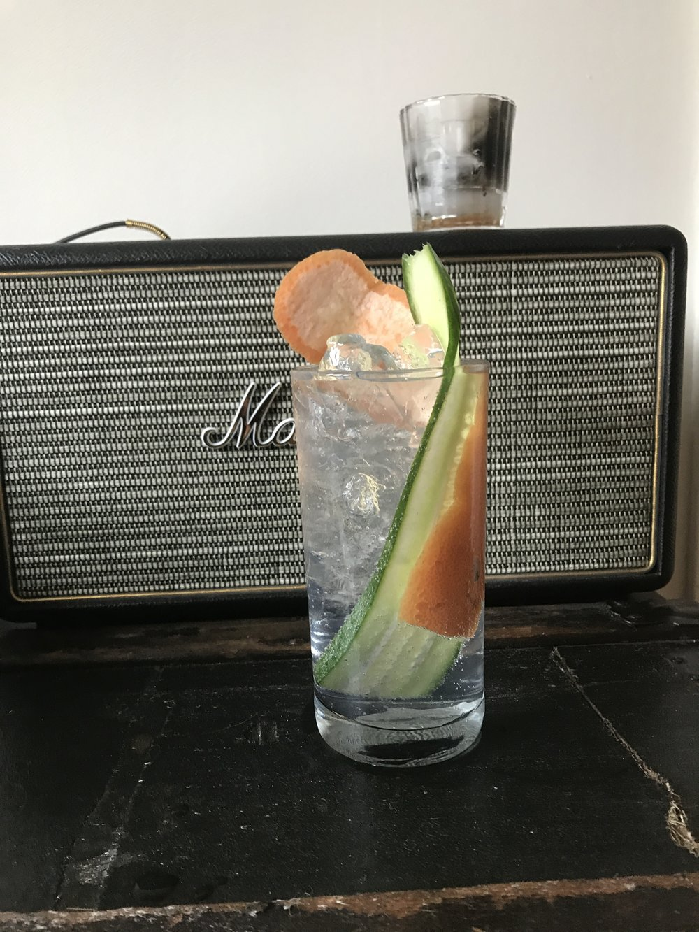 ILEGAL + TONIC - 2oz Ilegal Mezcal Joven5oz TonicBuild in a collins glass. Garnish with cucumber and grapefruit peel.