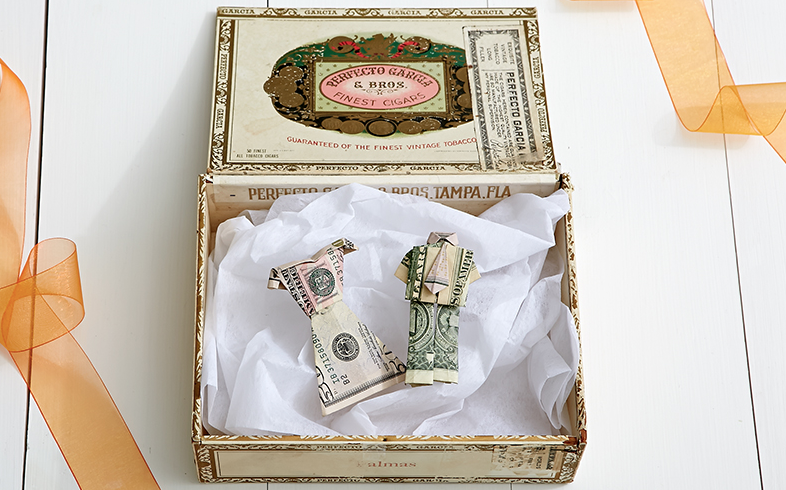 "photo courtesy of Berries.com (Wedding DIY: 7 Creative Ways to Gift Cash) 9.  WHAT'S AN APPROPRIATE GIFT? I have no idea why, but people don't bring their gifts to the Orthodox weddings I've been to.  They either drop them off in advance or after the fact. While some brides register, many don't, which leaves you on your own.  Checks are always considered appropriate, often in denominations of ""chai"" - $18.  If the couple is moving to Israel, this is your best bet, so they don't have to shlep anything.  Otherwise, household goods, cookbooks, crystal, or Judaica such as kiddush cups.  I don't recommend mezuzah covers, although it seems so intuitive, because most of them are too small to contain a kosher scroll."