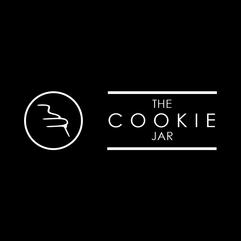 The Cookie Jar - White on Black Logo design from THAT Branding Company, Newcastle