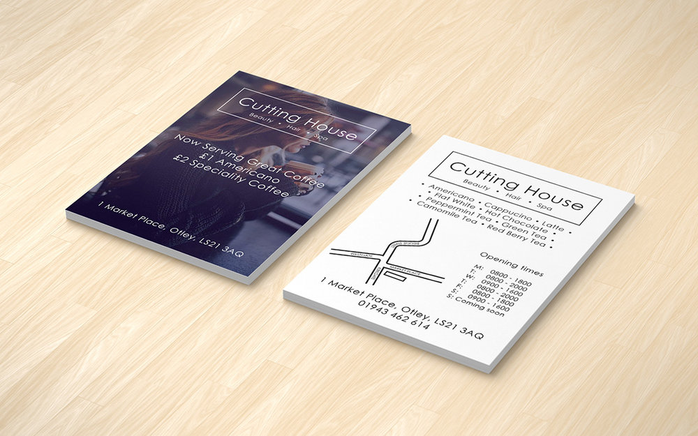 Cutting House Otley - Coffee campaign leaflets - THAT Branding Company - Creative Design and Branding Agency in Newcastle and Gateshead.jpg