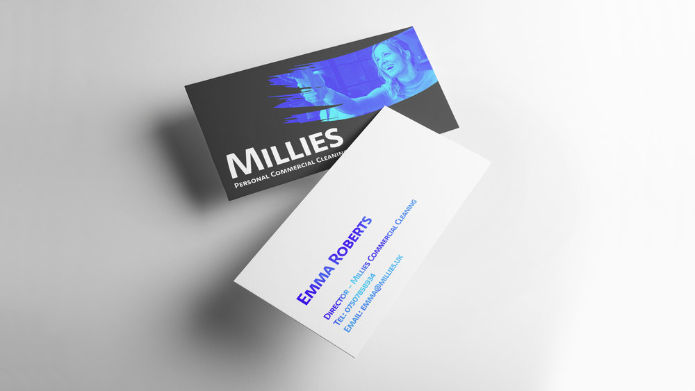 Business-cards for Millies Commercial Cleaning - THAT Branding Company - Creative Design and Branding Agency in Newcastle Gateshead and Durham.jpg