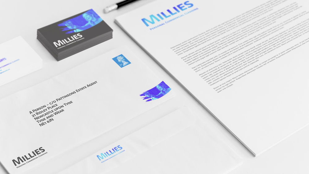 Stationery Mockup for Millies Commercial Cleaning - by THAT Branding Company - Creative Design and Branding Agency in Newcastle Gateshead and Durham.jpg