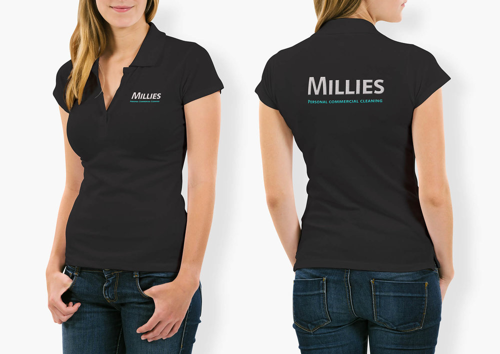 T-Shirt Mockup  for Millies Commercial Cleaning - by THAT Branding Company - Creative Design and Branding Agency in Newcastle Gateshead and Durham.jpg