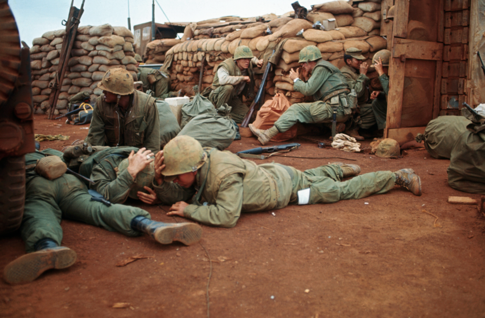 U.S MILITARY IN South Vietnam, tet offensive 1968. Bettmann/CORBIS