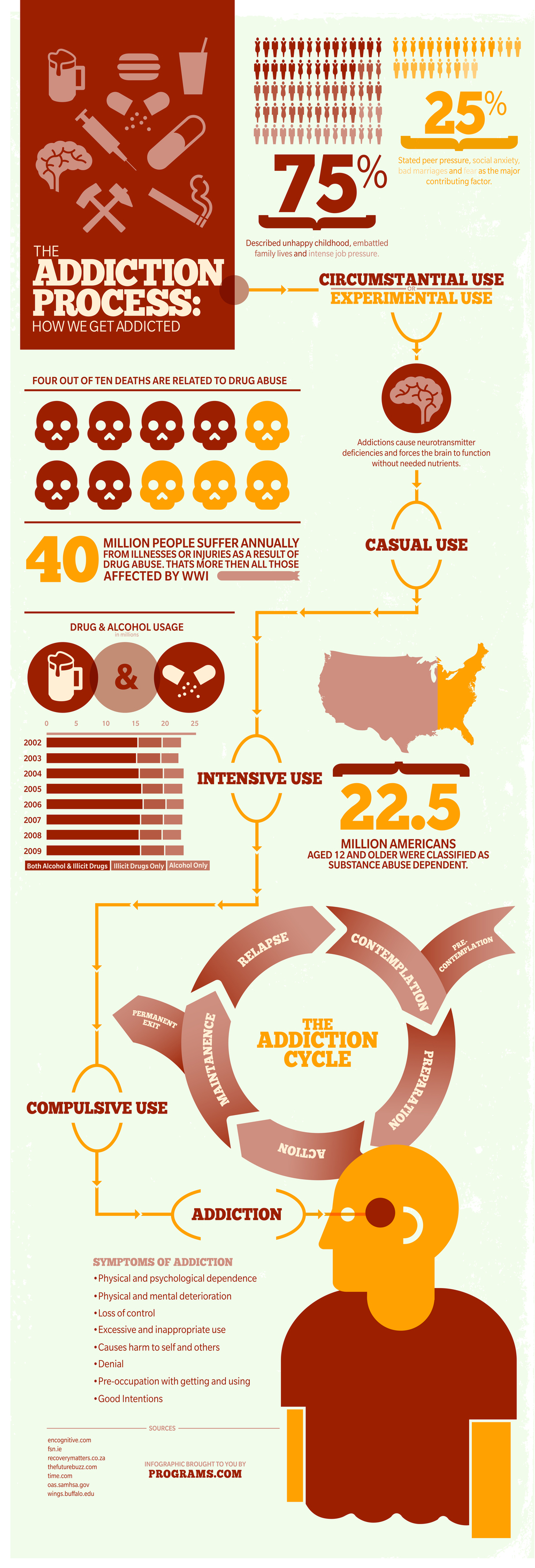 The Addiction Process Infographic