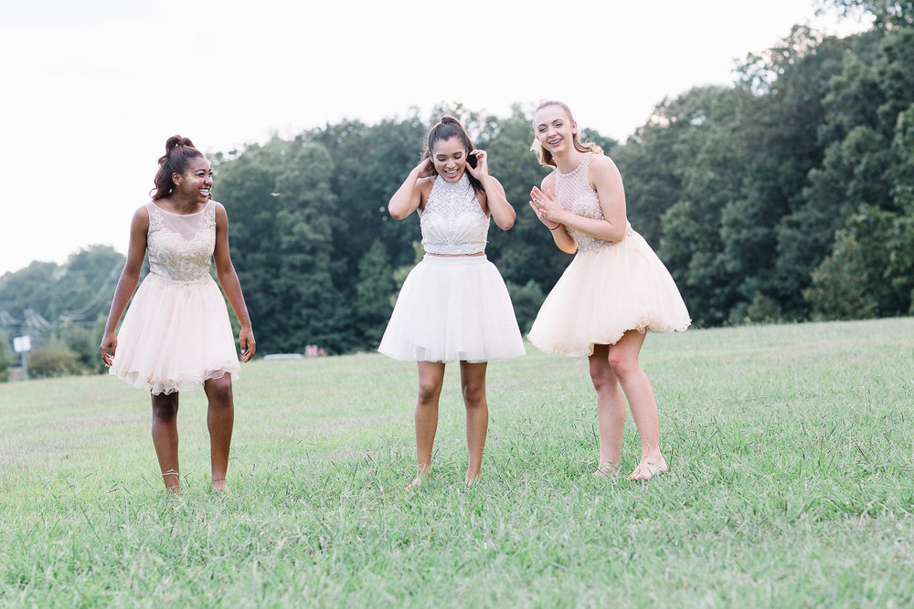 Blush Pink Homecoming Bridesmaids Semi Formal Dresses