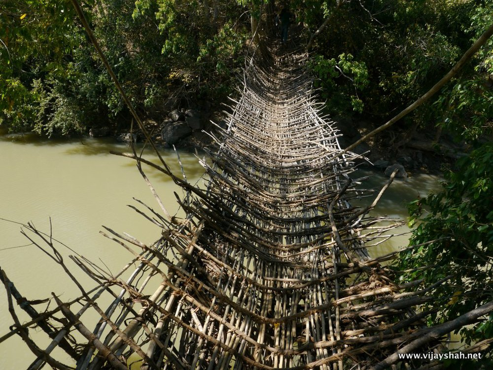 100 Year Old Bamboo Bridge, Malawi