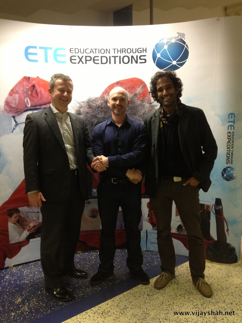 Duncan, Antony and Vijay at the civic send off in Plymouth.
