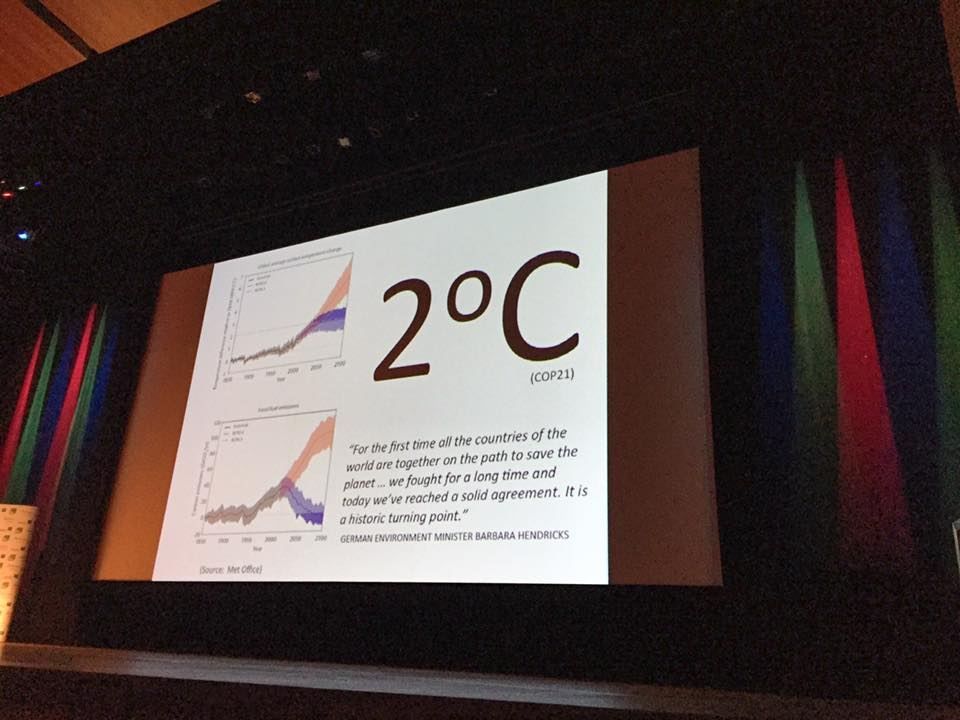 """We must reduce greenhouse gas emissions today. ... This 2 Celsius target for reducing global warming is dependent on our actions."" - Vijay Shah, explorer and filmmaker  ‪#‎WEP2016‬"