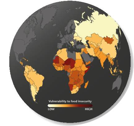 Current state of food insecurity (Met Office)