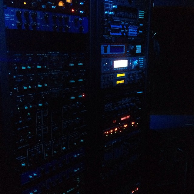 Outboard gear for days! New year new music.... #olivertrolley #newmusic
