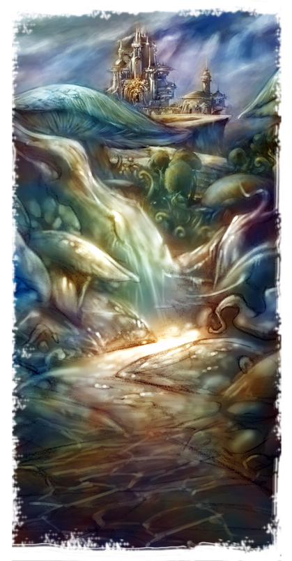"Road to Elfindor, 16""x 32"" print on watercolor paper. Limited Edition print. Please check SHOP for availability. ©rolandmechael2013 All rights reserved"