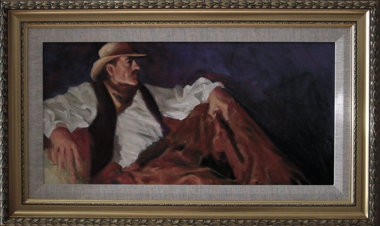"""Nightwatch"" -10"" x 20"" Oil on canvass panel , from a 3 hour painting session at Walt Disney Feature Animation Studio Florida"
