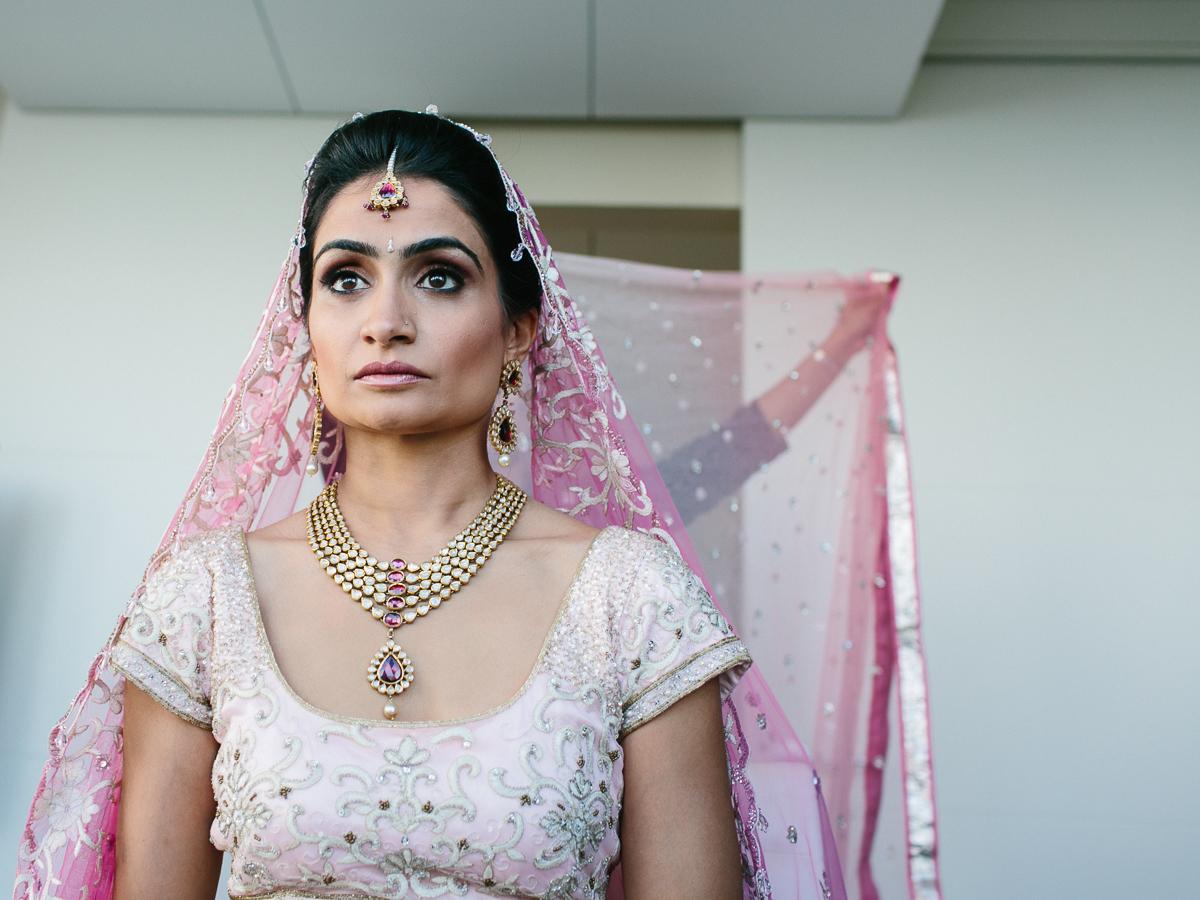 Indian Bride Getting Ready at Eden Roc Hotel Miami Beach