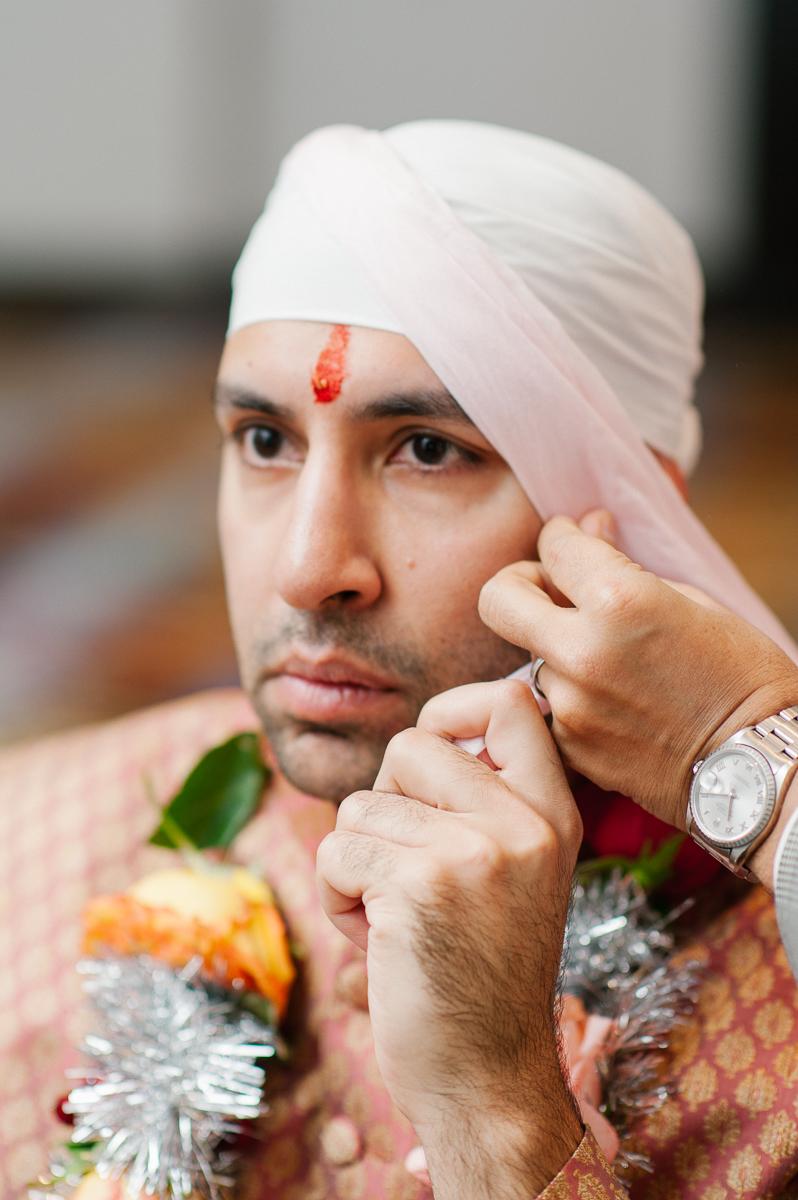 Sikh Wedding Turban Tying