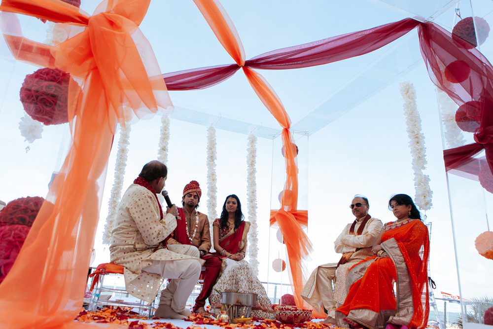 Orange and Red Indian Mandap