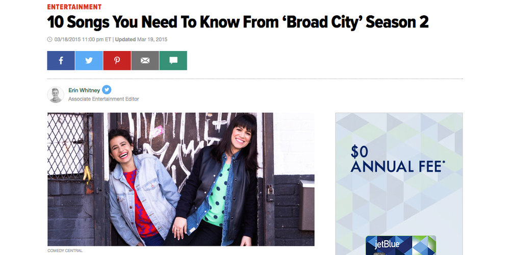 Happy To Be Sad on Broad City HuffPo