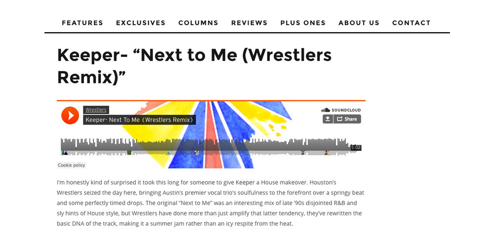 Next To Me Wrestlers RMX Review Ovrld