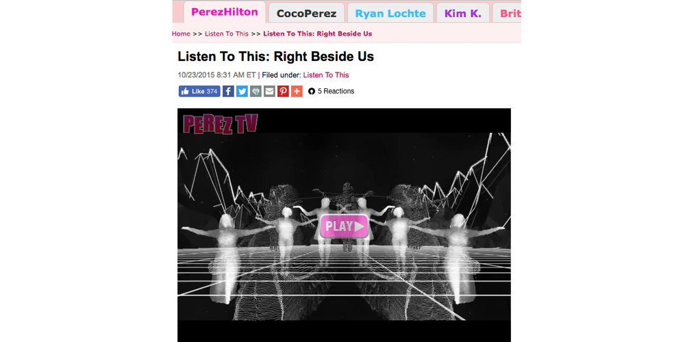 Next To Me Video Placement Perez Hilton