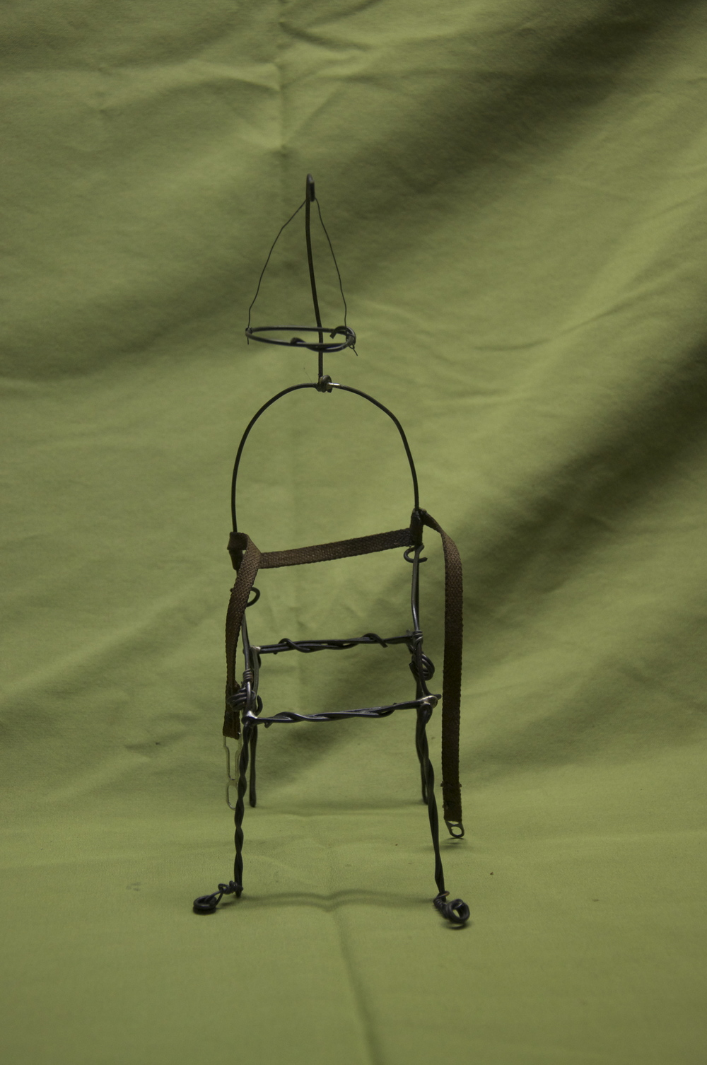 """""""The Mercy Seat""""    Steel wires and typewriter parts. 2011"""