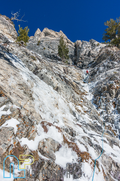 Chris Thomas on the fun alpine ice of P5.