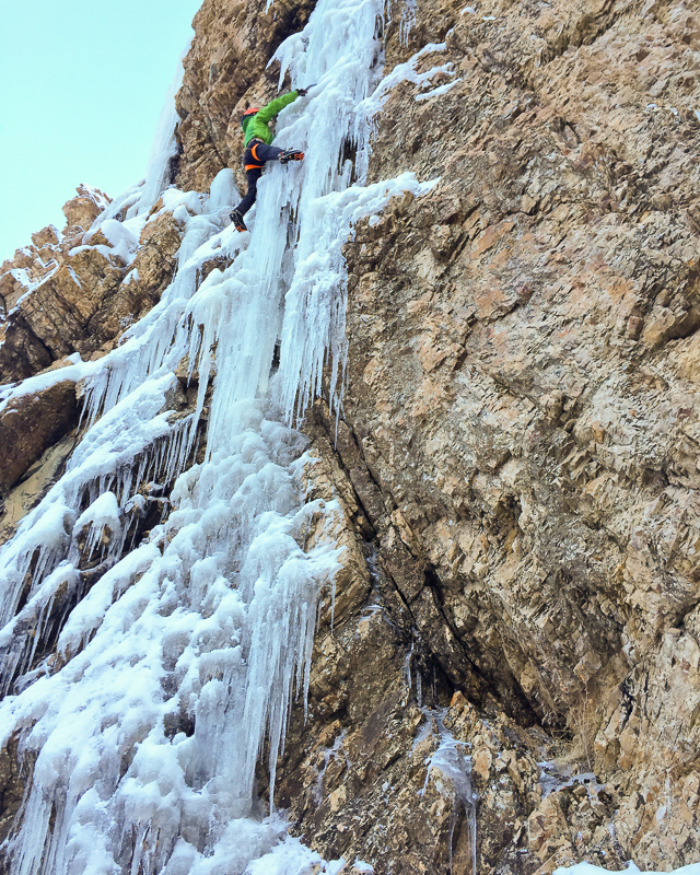 Tom Adams on Storm Mountain Falls.