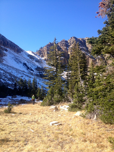 It was summer conditions for most of the hike until we hit 11,000'.