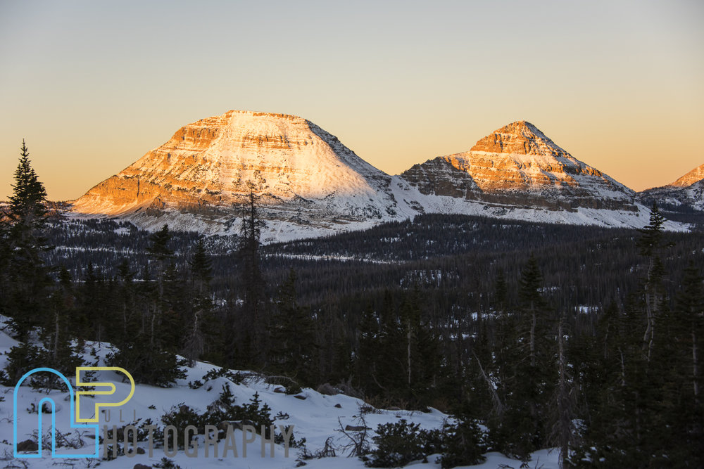 Bald Mountain and Reids Peak at sunrise.