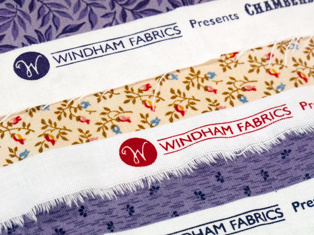 Logo on Fabric Selvedge