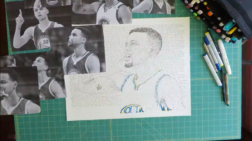 "Art of Words ""Stephen Curry"""