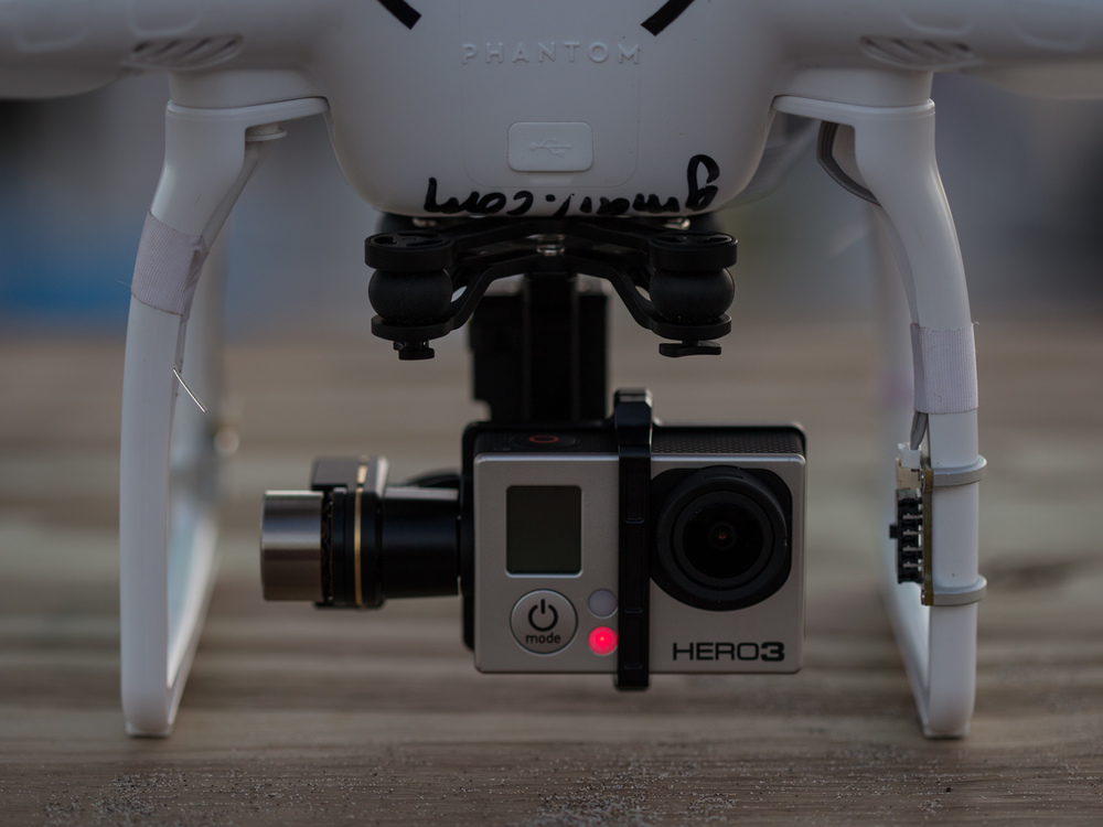 Zenmuse H3-2D Gimbal with GoPro Hero 3 Black.