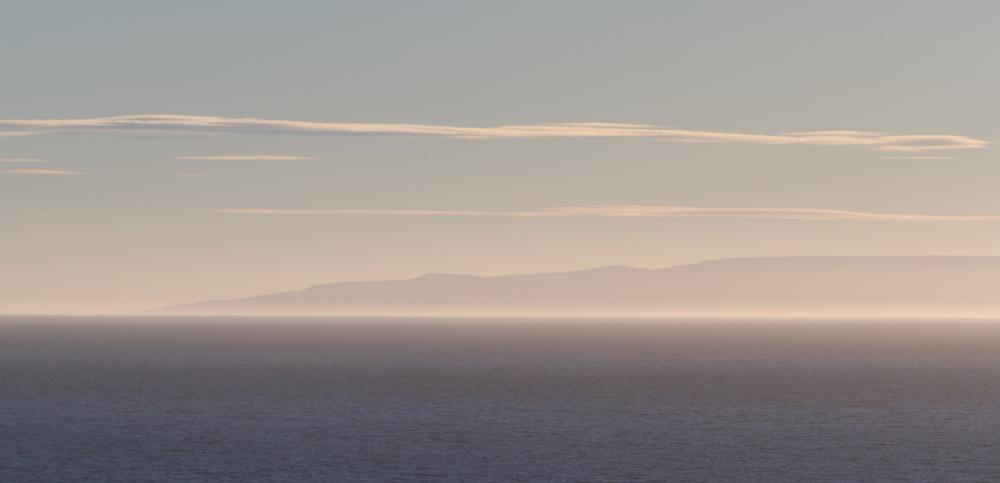 View across Bahia Inutil, Tierra del Fuego.