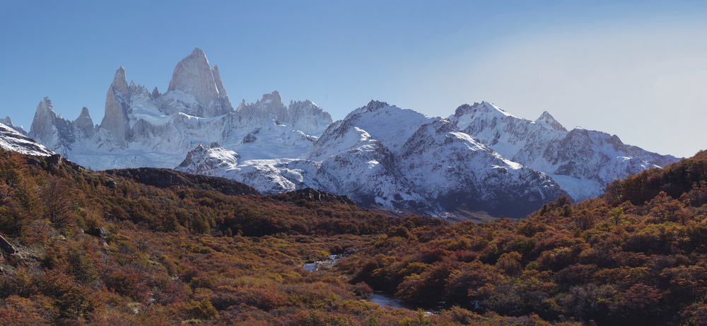 Cerro Fitzroy - you can see glaciers on the left and right.