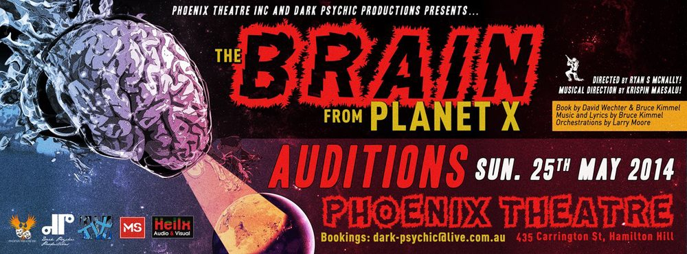 A comedy musical presented by Phoenix Theatre Inc and Dark Psychic Productions