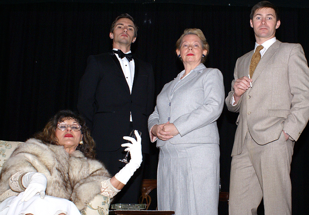 Geraldine Harrington, left, Sean Bullock, Susan Lynch and Darren Goodison are appearing in Noel Coward's Relative Values this July.