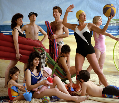 Image credit: Anne Zahalka The bathers 1989. C type photograph, 74 x 90 cm. State Art Collection, Art Gallery of Western Australia. Purchased 2013.