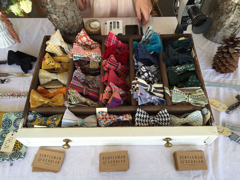 Gentleman & Scholar Apparel, bow ties on sale at the Beaufort Street Festival
