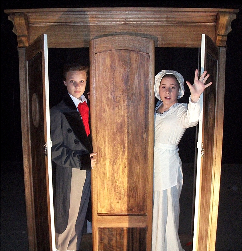 Luis Barnes, left, and Chloe Marlow are two of 23 actors aged between 11 and 17 appearing in The Wardrobe.