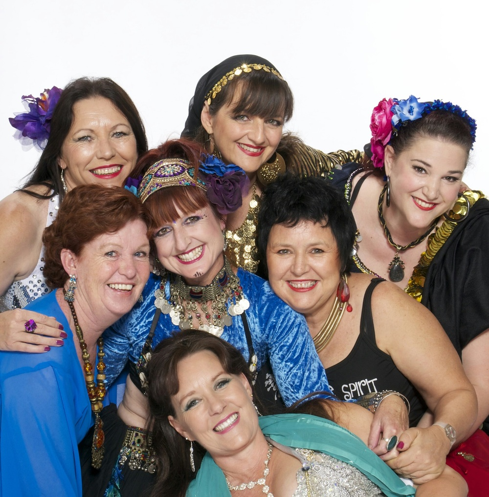 Clockwise from left: Julie Rankin, Min Adlide, Princess Fee, Lyn Annandale, Richelle Spencer and Marie Edwards are ready to celebrate all things bellydance at the  Free Spirit Fusion Festival .